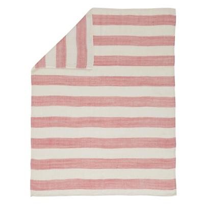 Lightly Striped Baby Blanket (Pink)