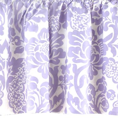 Reversible Crib Skirt (Lavender Floral/Lattice)