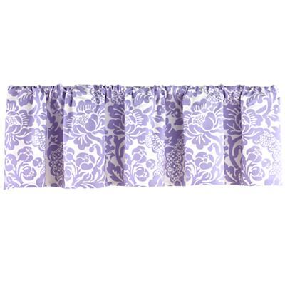 Lavender Floral Valance