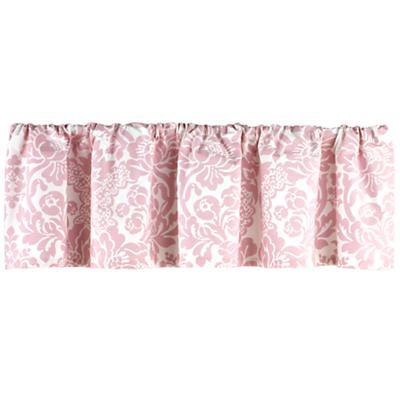 Dk. Pink Floral Valance