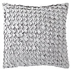 Grey Basketweave Throw Pillow (Includes Cover and Insert)