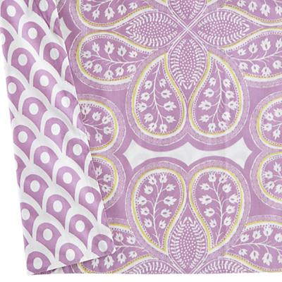 Mosaic Paisley Crib Skirt (Lavender)