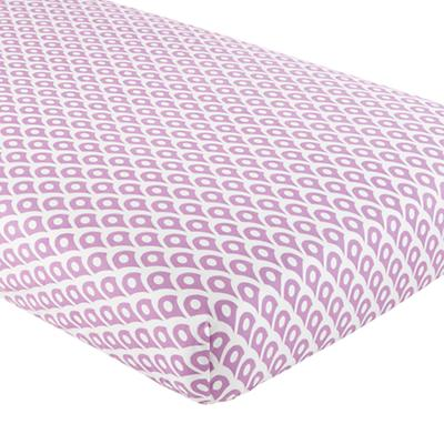 Crib Fitted Sheet (Lavender Mosaic)