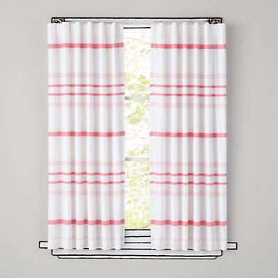 """84"""" Wide Ruled Curtain Panel (Pink)"""