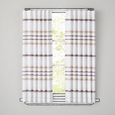 "63"" Wide Ruled Curtain Panel (Khaki)"