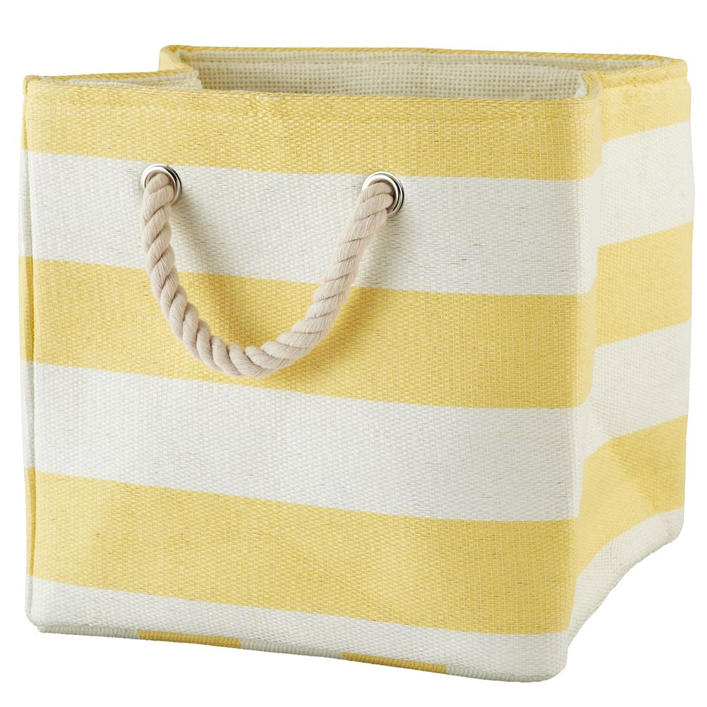 Stripes Around the Cube Bin (Yellow)