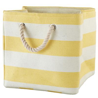 Stripes Around the Cube Bin (Yellow)
