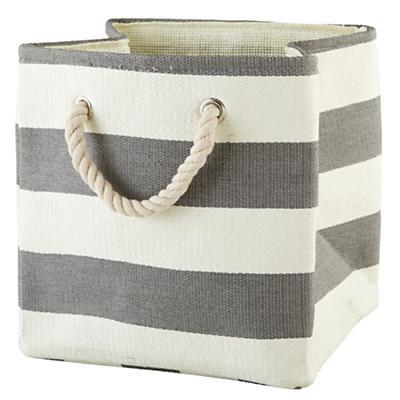 Stripes Around the Cube Bin (Grey)