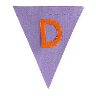 D Print Neatly Pennant Flag (Girl)