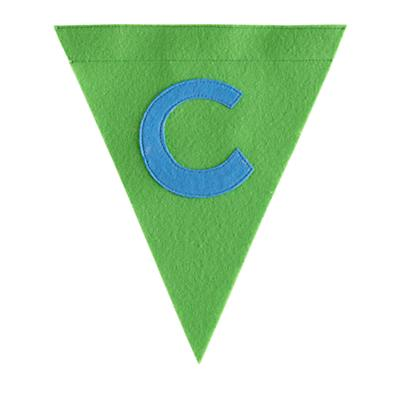 C Print Neatly Pennant Flag (Boy)