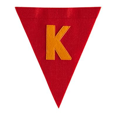 K Print Neatly Pennant Flag (Boy)