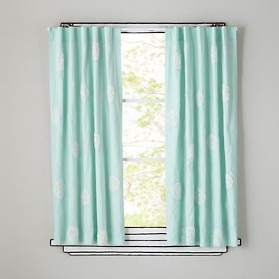 """84"""" Furled Swirl Curtain Panel"""