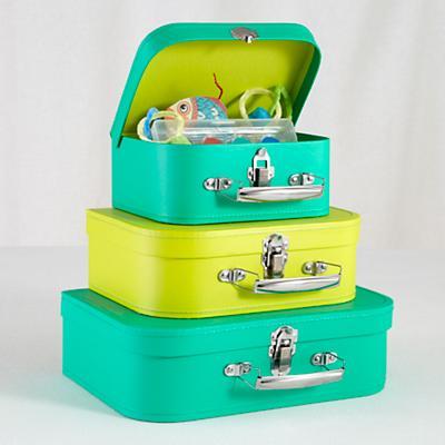 Bon Voyage Suitcase Set (Bright Green/Lime)
