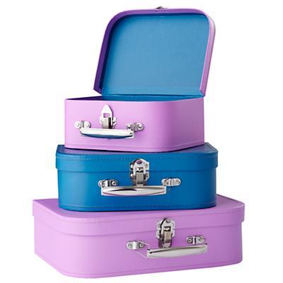 Bon Voyage Suitcase (Blue/Red)
