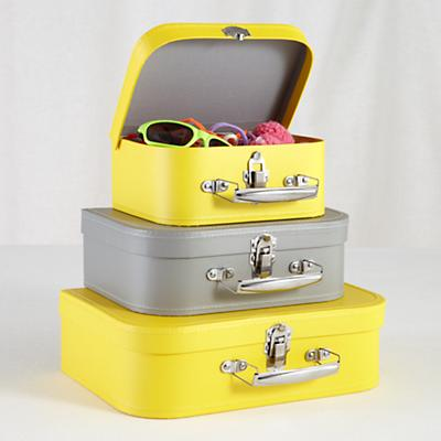Bon Voyage Suitcase Set (Yellow/Grey)