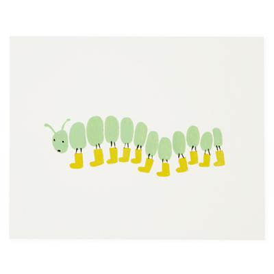 Caterpillar Bug Print