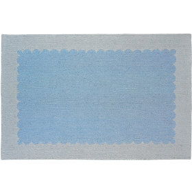 Pretty as a Picture Frame Rug (Blue)