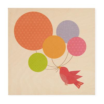 Personalized Wall Plaque (Balloons and Bird)