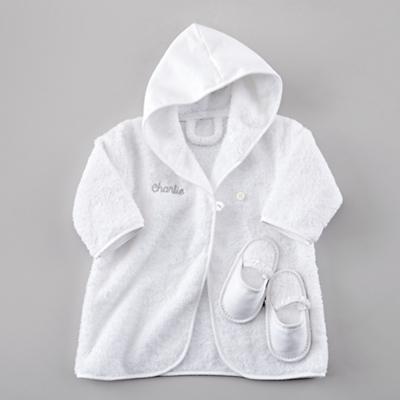 Personalized Bath Robe and Slippers Set (Khaki)