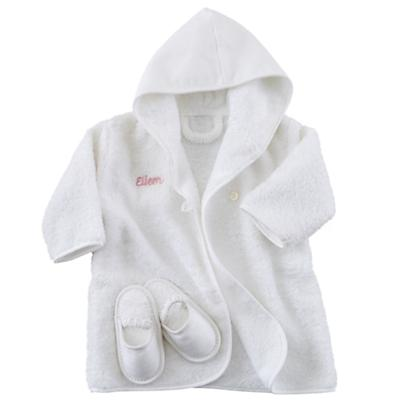 Personalized Bathrobe and Slippers (Pink)