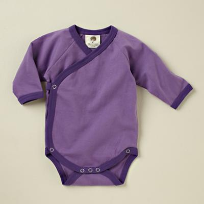 6-12 mos. Purple Long Sleeve Snapsuit