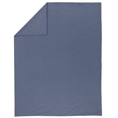 Full-Queen Blue Chambray Duvet Cover