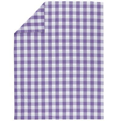 Full-Queen Lavender Gingham Duvet Cover