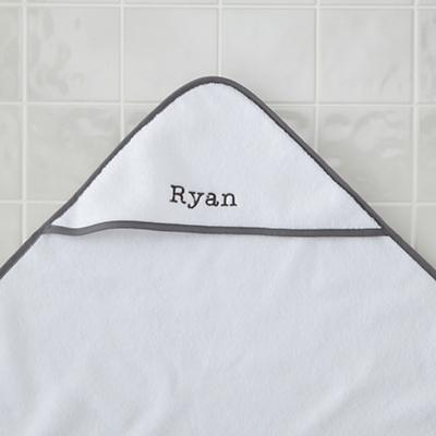 Personalized Fresh Start Hooded Towel (Grey)