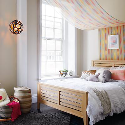 Bayside Slatted Bed (Whitewash)