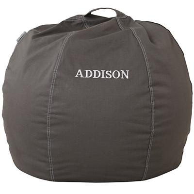 "30"" Personalized Bean Bag  Cover (Grey)"