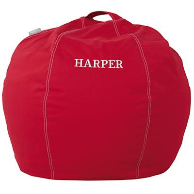 "30"" Personalized Bean Bag Cover (New Red)"