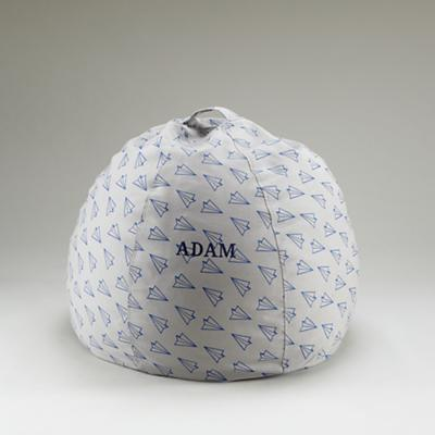 """30"""" Personalized Paper Airplanes Bean Bag"""