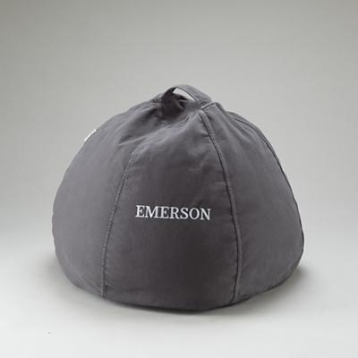 """30"""" Grey Personalized Beanbag"""