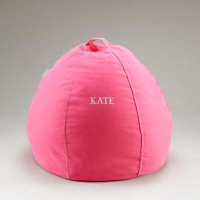 "30"" Pink Personalized Bean Bag Cover"