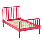 Twin Raspberry Jenny Lind Bed