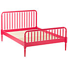 Full Raspberry Jenny Lind Bed