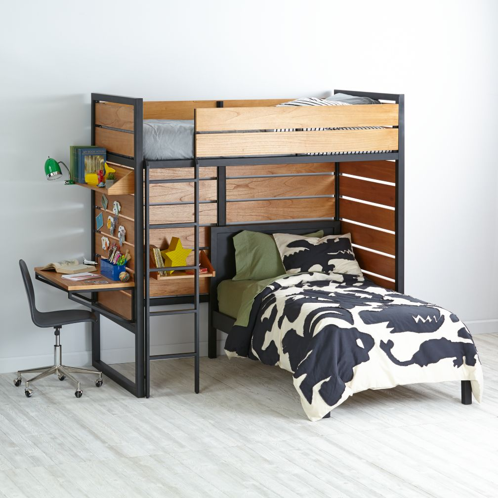 chace twin over twin bunk bed with storage tag