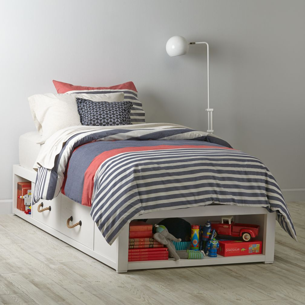 Topside Storage Bed (White Glaze)