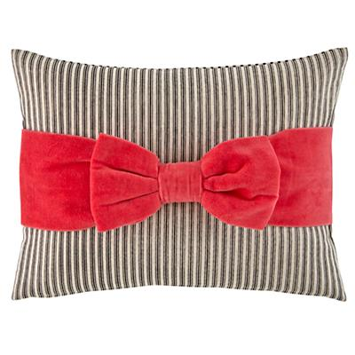 Pink Bow Throw Pillow Cover