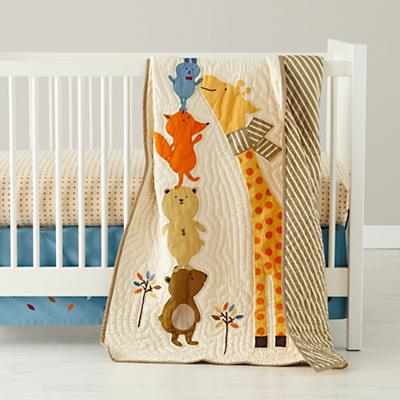 Bright Eyed, Bushy Tailed Crib Bedding