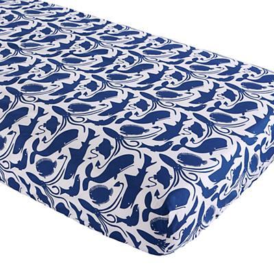 Deep Blue Crib Sheet