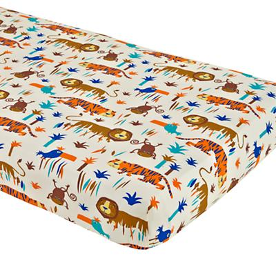 Lions and Tigers Fitted Crib Sheet