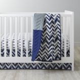 Little Prints Crib Bedding (Blue)