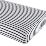 Noir Stripe Crib Sheet