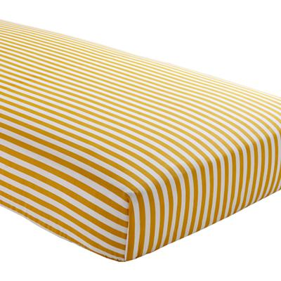 Crib Fitted Sheet (Yellow Stripe)