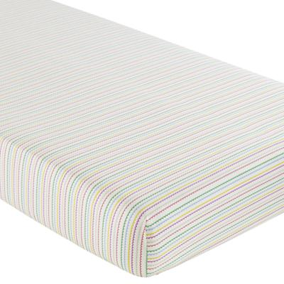 Princess & Pea Crib Fitted Sheet (Multi Stripe)