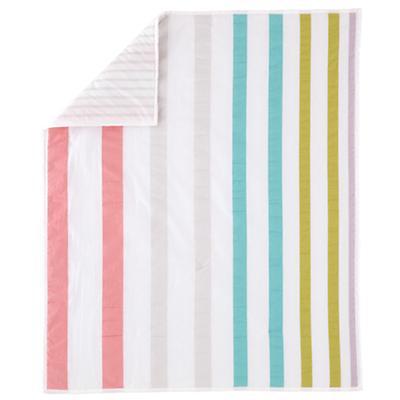 Sherbet Stripe Crib Quilt