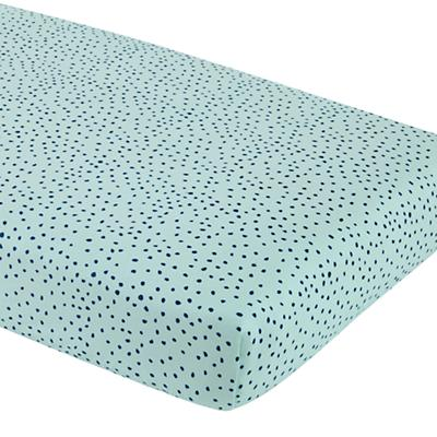 Sleep Tight Fitted Crib Sheet (Aqua Dot)