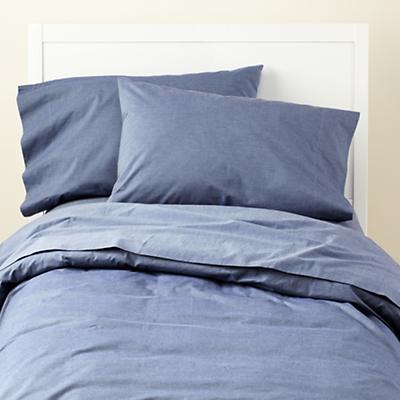 Blue Chambray Sheet Set