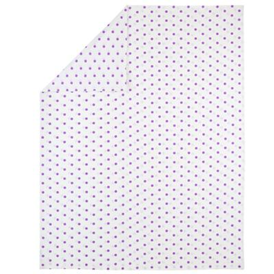 Twin Polka Dot Duvet Cover (Purple)